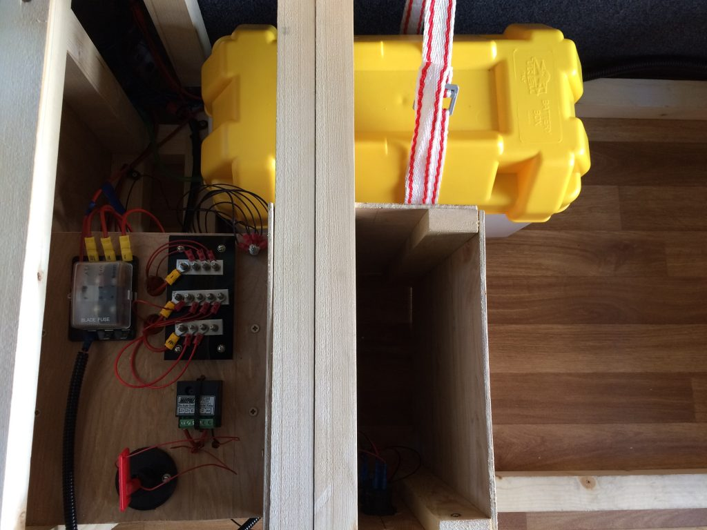 Electrics Two Travlrs 12 Volt Led Lights Conversion Vans Also Relay Wiring Diagram 5 I Have Used The Fuse Split Charge And Isolator Switch To Protect Van Battery Same Setup As Above In Camper Circuit
